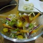 CAFE&KITCHEN ROCOCO - サラダはコーンの乗ったミニ野菜サラダでした