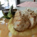 ボンクラージュ - 今週のランチ、豚ロース肉のグリル、西洋ワサビのソース