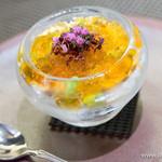 スゥリル - 枝豆のムースと蚫、雲丹、オマール海老とコンソメジュレ、花穂紫蘇の香りを添えて【2014年9月】
