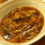 愛と勇気と炎の拉麺屋たいらん - 五香茄子温麺(ウーシャン麺)