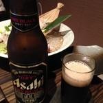 楽蔵 - 黒ビール小瓶