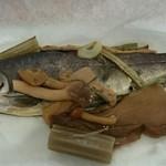 栂池山荘 - 虹鱒の紙焼