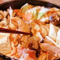 鶏とキノコのすき焼き