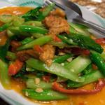タイレストラン ブアールアン - パッカナー(カイラン炒め)