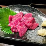 和食処 まる - 馬刺し(2014年9月)