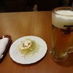 萬州香 - 生ビール:300円