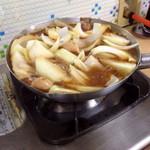 おばこや - もつ鍋煮込み中