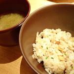 鉄板焼 天 - 天笑鮑コース:炒飯