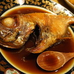 かもめ丸 - キンメの煮つけ1800円(税別)