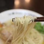 ラーメンニッコウ - 麺リフト 日香麺 塩☆
