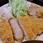 柳家 - ランチカツ定食(ロース、ヒレ)