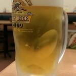 日高屋 - 生ビール(310円)