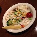 ジ オーブン アメリカン ビュッフェ - 平日ディナー(大人2,160円)の「サラダ」2014年9月