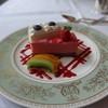 ボア・ド・ブローニュ - 料理写真:ケーキ2種とフルーツ