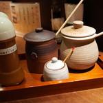 銀座平田牧場 - ソース2種類・藻塩・ドレッシング2種類 2014.9.1x
