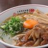 らぁ~めん京 - 料理写真:焼肉らぁ~めん 濃厚ダレで香ばしく炒めた豚焼肉に卵黄を絡めてぞうぞ。ぜひご飯と一緒にがっつりとお召し上がりください!!