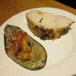 ルセット - ムール貝のパン粉焼き、鶏肉のハーブグリル