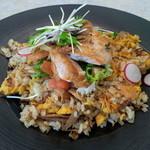 レストラン アンソレイユ - (2014年9月)秋鮭とごぼうのピラフ サラダ仕立て(サラダ・スープ付) 1650yen