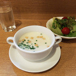 ジャンデール - スープとサラダ