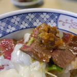 いまきん食堂 - 肉の下にはあか牛の肉味噌