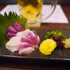 馬鹿凡人 - 料理写真:馬刺3種盛り¥980(赤身、コウネ、フタエゴ)