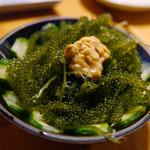 大安丸 - 海ぶどうとウニ ¥480
