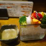 吉祥寺 みかづき酒房 - 朝どれ野菜のバーニャカウダ (ハーフ)325円