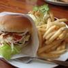 カフェ ハングリーキャタピラー - 料理写真:ハンバーガーのセット (2014.05)
