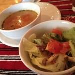 サルマーレ - サラダと野菜スープ