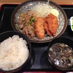 テング酒場 - Aランチ590円税込 2014.9