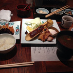 蔵人厨 ねのひ - 赤鶏の炭火焼き御膳@1850円ですが、なかなか豪華です