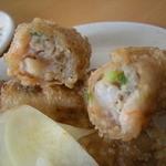 陳家蚵捲 - これも台南名物の蝦捲(NTD45)
