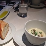 カチナ - ランチのスープ、パン