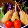 Hideout - 料理写真:フォアグラの串揚げ ブルーチーズソース添え