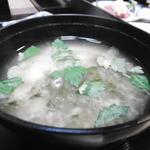 旬亭 - 味噌汁は豆腐カニ出汁