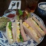 メアリルボーン - たまごサンドランチ972yen(紅茶・プチデザート付)