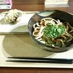 羽生製麺処 - かけうどん\410+舞茸天\130
