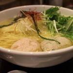麺屋海神 - 海老つみれと鶏つくね
