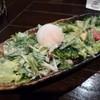 魚菜 - 料理写真:2014.10 6種の野菜と温玉のシーザーサラダ(500円)