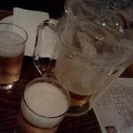 ラ・ベファーナ - ピッチャーで乾杯ビール