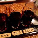 黒猫夜 - 紹興酒飲み比べセット。確かに違う。