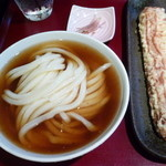 活麺富蔵 - なめこひやかけ&竹天(H26.10.2)