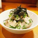 ししまる食堂 - 里芋とオクラとツナの和風ポテサラ(500円)