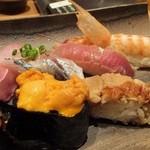 築地玉寿司 - 築地特選にぎり(茶碗蒸し・お吸い物付き):3500円