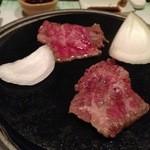 海の神山の神 - 氷見牛の陶板焼き