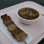 道の駅 どうし 手づくりキッチン - 豚串+豚汁セット