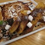 cica - カフェ・モカのフレンチ・トースト+チョコレート・ソースのえこだねこパパ3
