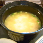 美ら彩 - 崩したお豆腐のお味噌汁☆♪