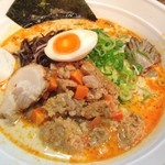 とんこつ小川 - 十日町火焔担々麺(800円)