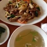31422779 - ランチの豚タンと野菜の黒胡椒炒め
